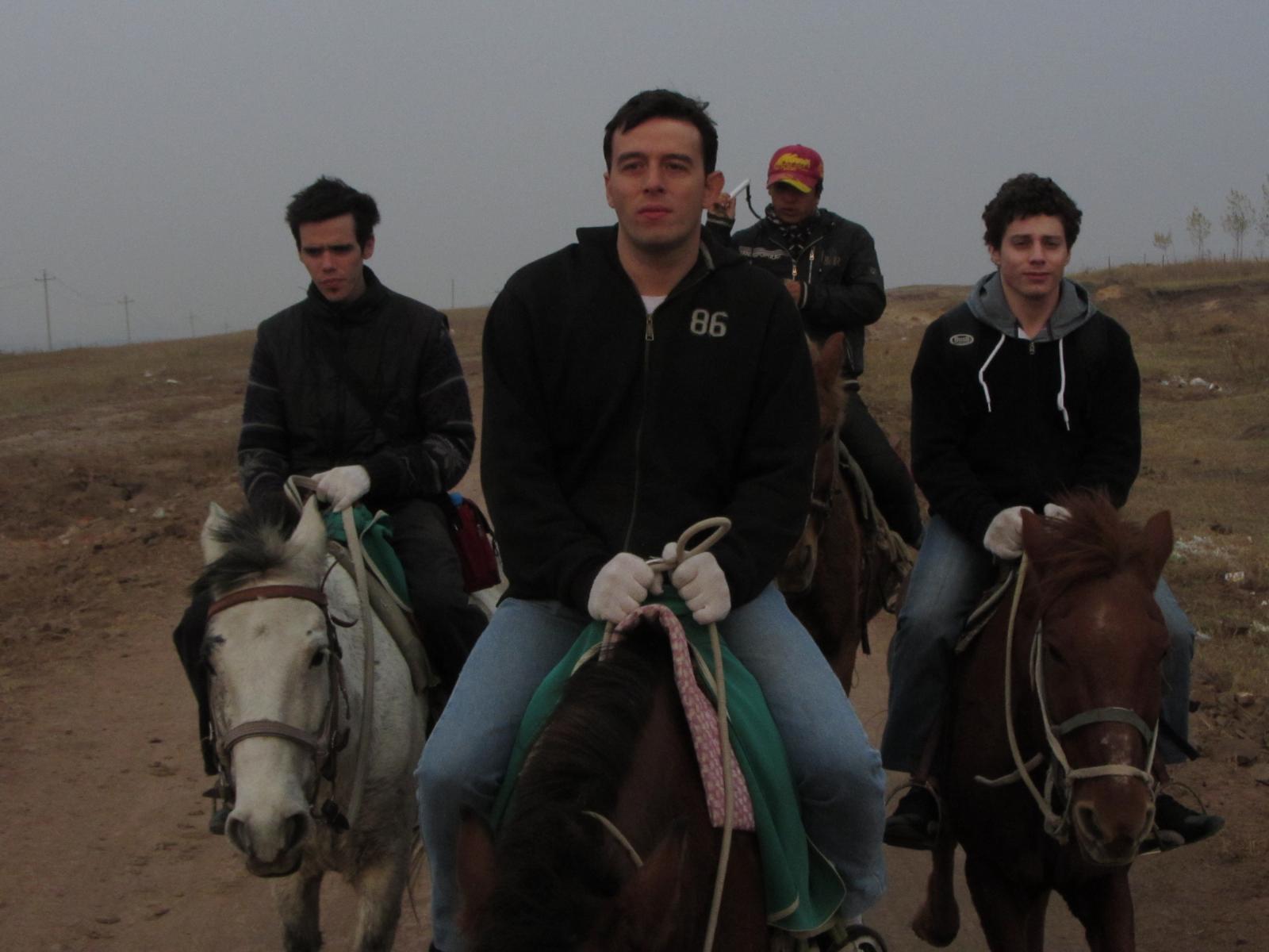 Les 2 chevaux au second plan suivent toujours Papi